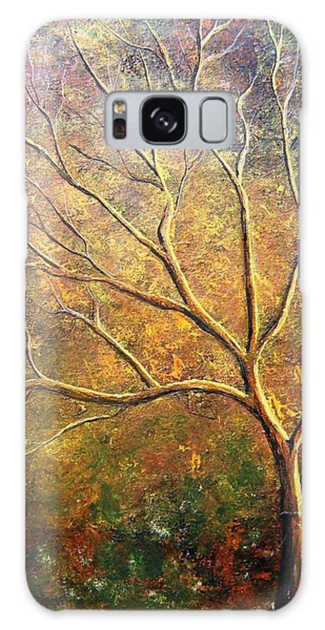 Galaxy Case featuring the painting Spirit Tree 5 by Tami Booher