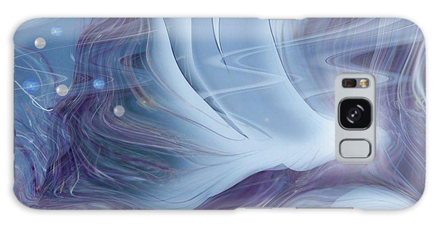 Abstract Galaxy S8 Case featuring the digital art Spirit World by Linda Sannuti