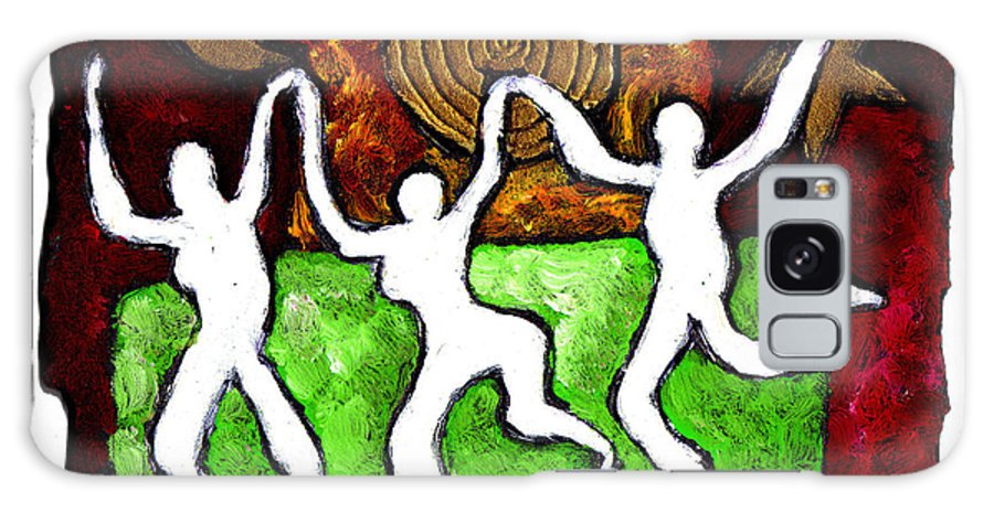 Dance Galaxy S8 Case featuring the painting Spirits Of The Dance by Wayne Potrafka