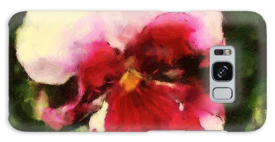 Lower Galaxy S8 Case featuring the painting Splash Cerise by RC DeWinter