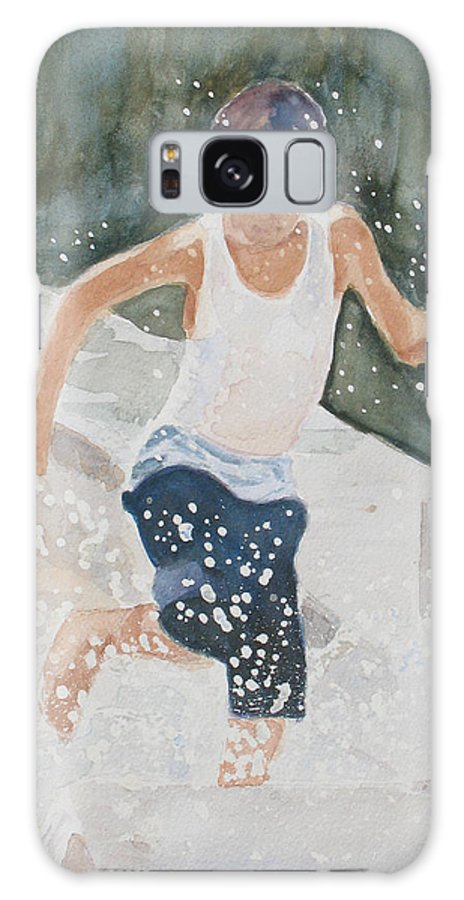 Boy Galaxy S8 Case featuring the painting Splash Dance by Jenny Armitage