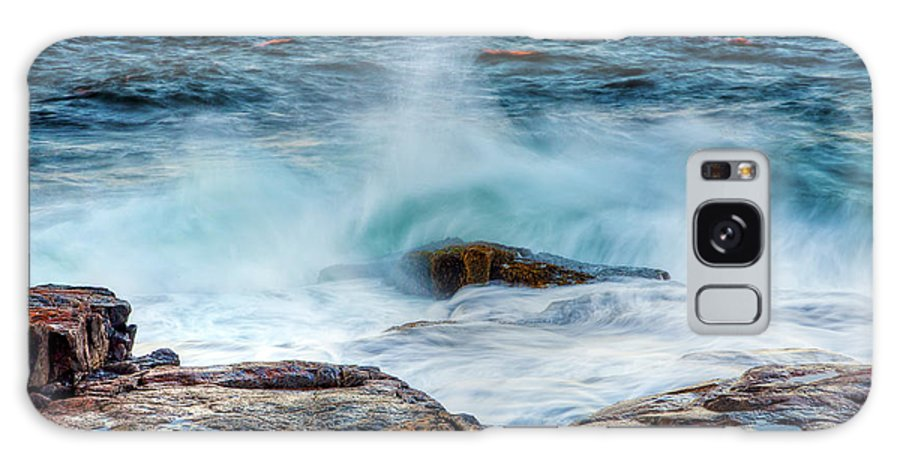 Acadia National Park Galaxy S8 Case featuring the photograph Splash by Susan Cole Kelly