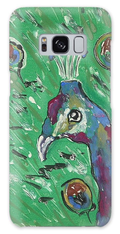Peacock Galaxy S8 Case featuring the mixed media Splendor Is The Night by Cori Solomon