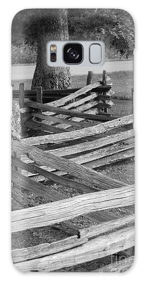 Road Galaxy S8 Case featuring the photograph Split Rail Fence by Eric Liller
