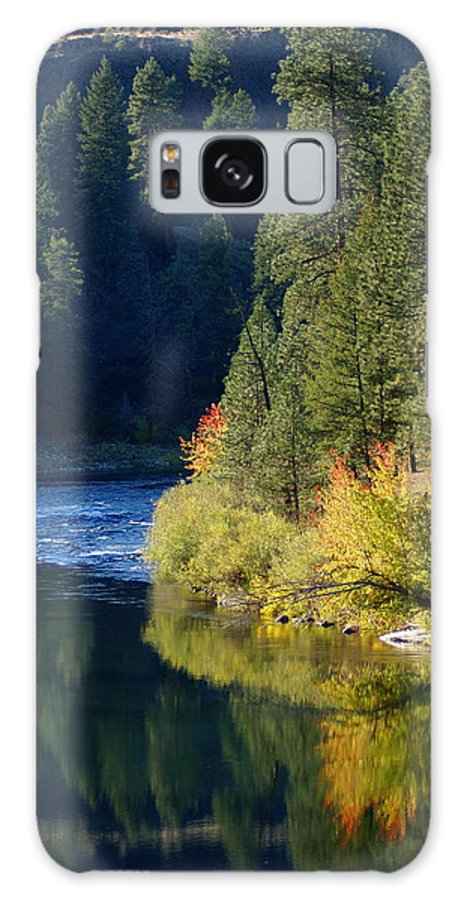 Nature Galaxy S8 Case featuring the photograph Spokane Rivereflections by Ben Upham III