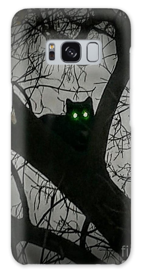 Cat Galaxy S8 Case featuring the photograph Spooky Cat by Amy Clements