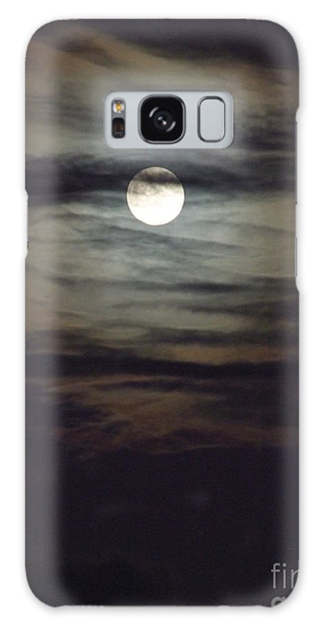 Mary Deal Galaxy S8 Case featuring the photograph Spooky Moon by Mary Deal