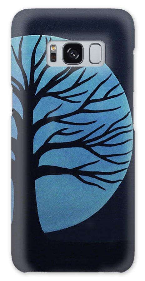 Spooky Tree Blue Galaxy S8 Case