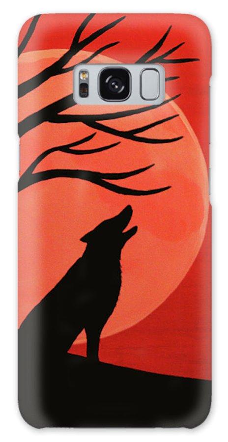 Spooky Wolf Tree Galaxy S8 Case