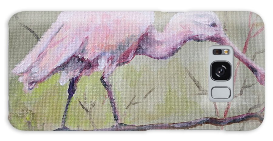 Bird Galaxy S8 Case featuring the painting Spoonbill by Carol Mueller