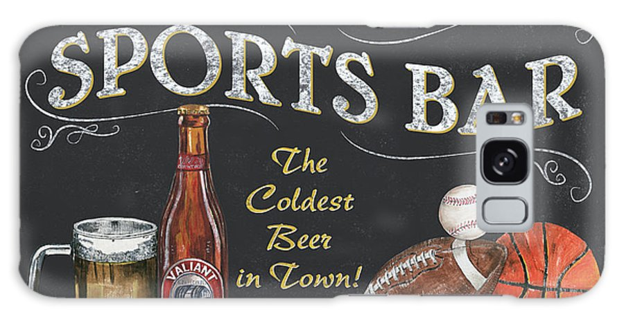 Sports Galaxy S8 Case featuring the painting Sports Bar by Debbie DeWitt