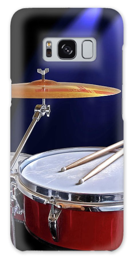 Music Galaxy Case featuring the photograph Spotlight on Drums by Gill Billington