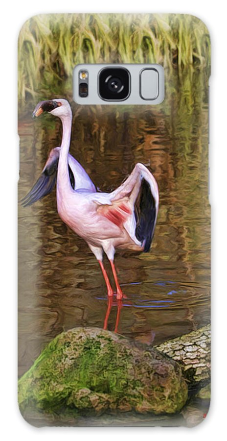 Galaxy S8 Case featuring the photograph Spread Pink Wings by Blake Richards