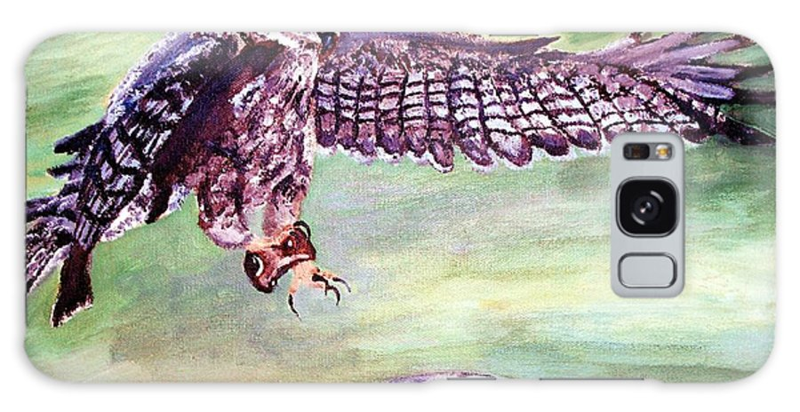Osprey Galaxy S8 Case featuring the painting Spread Your Wings by Robin Monroe