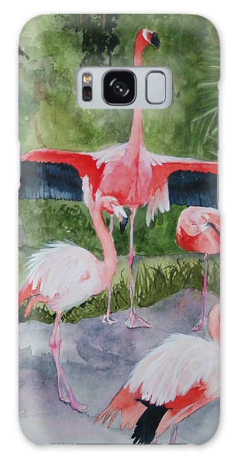 Wings Galaxy S8 Case featuring the painting Spreading My Wings by Jean Blackmer