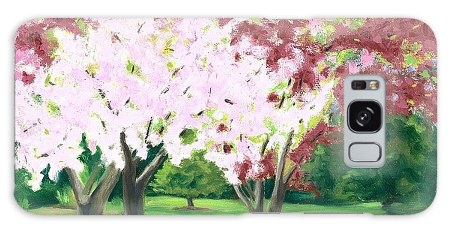 Spring Galaxy Case featuring the painting Spring At Osage Land Trust by Paula Emery