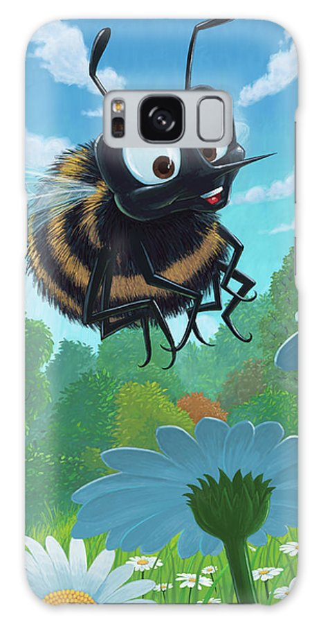 Spring Galaxy S8 Case featuring the painting Spring Bee by Martin Davey