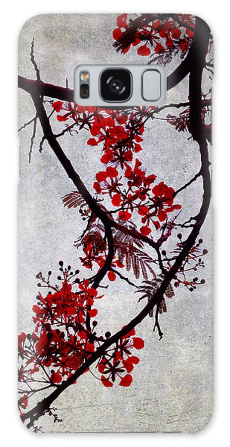 Jenny Rainbow Fine Art Photography Galaxy S8 Case featuring the photograph Spring Bloosom In Maldives. Flamboyant Tree II. Japanese Style by Jenny Rainbow