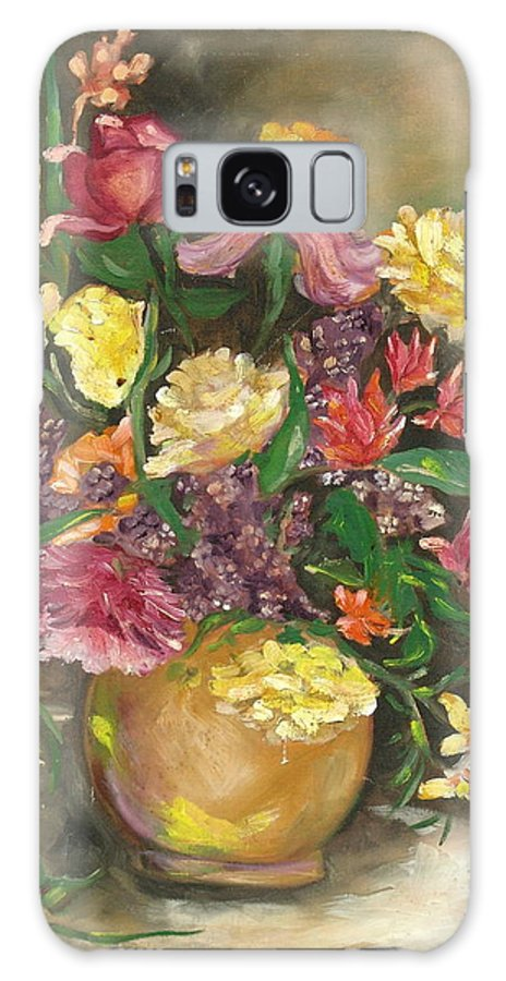 Flowers Galaxy S8 Case featuring the painting Spring Bouquet by Sally Seago