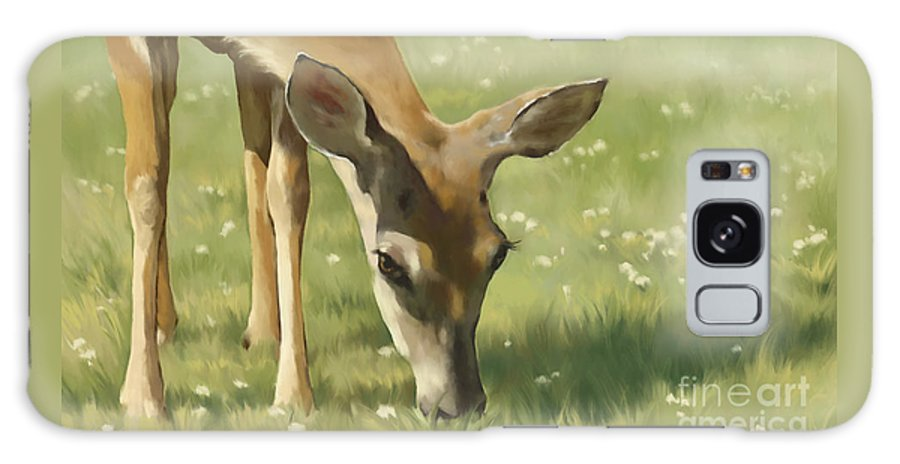 Deer Galaxy S8 Case featuring the painting Spring Buck by Laurie Musser