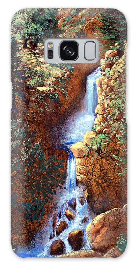 Wilderness Galaxy S8 Case featuring the painting Spring Cascade by Frank Wilson