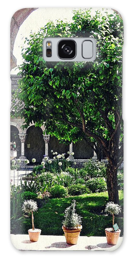 Cloister Galaxy S8 Case featuring the photograph Spring Day At The Cloisters 2 by Sarah Loft
