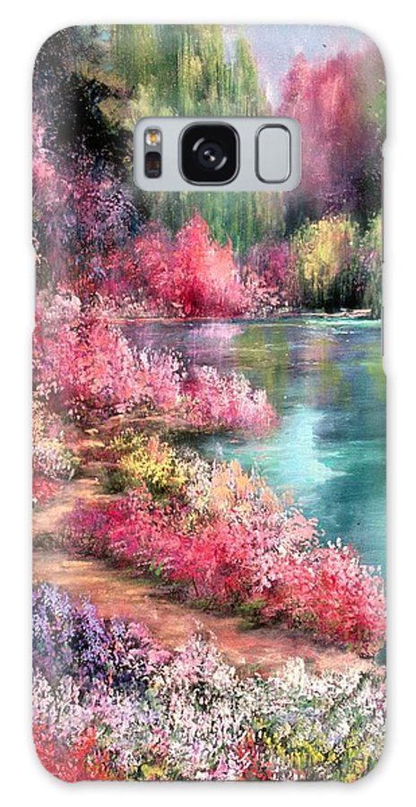 Gardens Galaxy Case featuring the painting Spring Eternal by Sally Seago