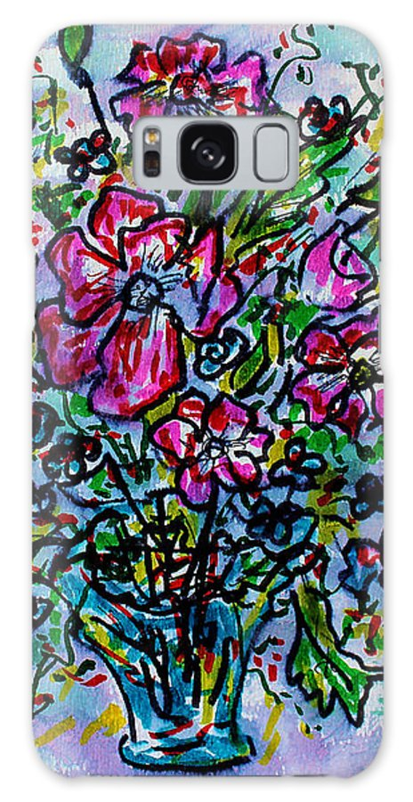 Fresh Flowers Galaxy Case featuring the painting Spring Flowers by Leonard Holland