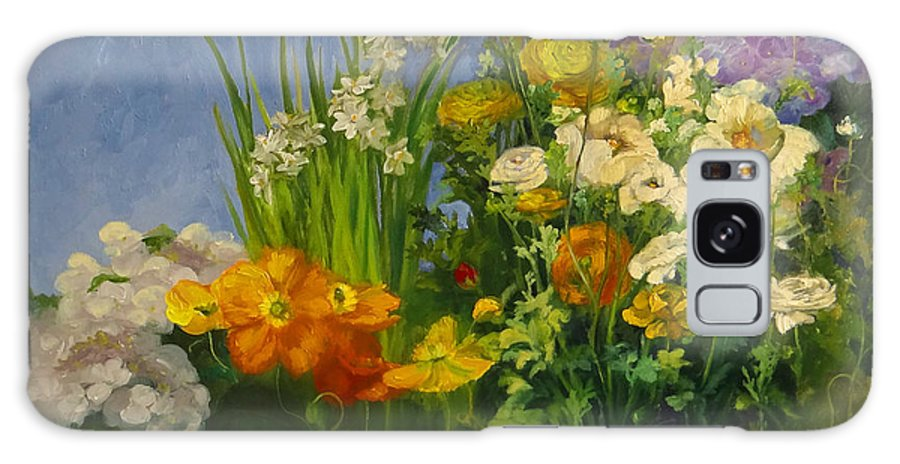 Poppies Galaxy S8 Case featuring the painting Spring Garden by Nancy Paris Pruden