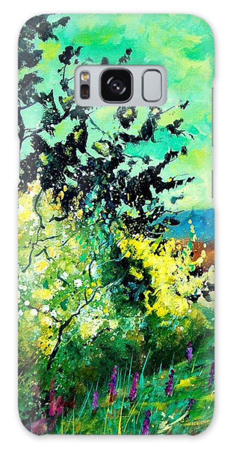 Spring Galaxy Case featuring the painting spring in Ciergnon by Pol Ledent
