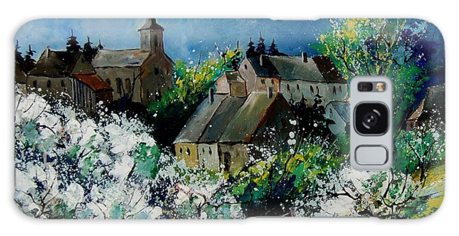 Spring Galaxy Case featuring the painting Spring In Fays Famenne by Pol Ledent