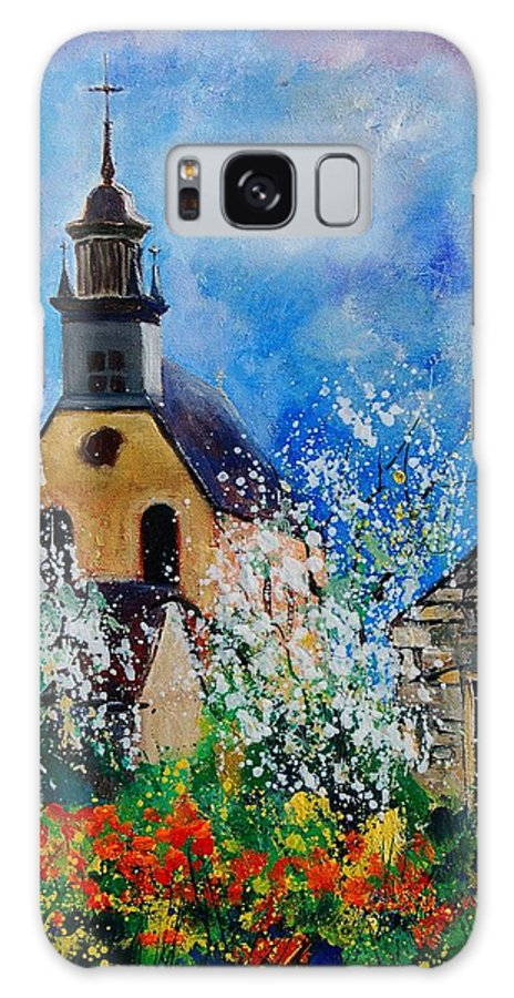 Spring Galaxy S8 Case featuring the painting Spring In Foy Notre Dame Dinant by Pol Ledent