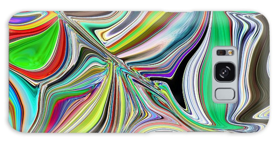 Abstract Galaxy S8 Case featuring the digital art Spring Kaleidoscope by Tim Allen