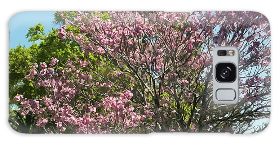 Magnolia Galaxy S8 Case featuring the painting Spring Magnolia In Winter Park by Allan Hughes