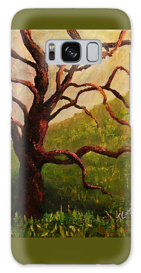 Tree Galaxy S8 Case featuring the painting Spring On Figueroa Mt. by Trish Campbell