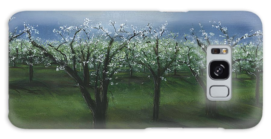 Spring Orchard Galaxy S8 Case featuring the painting Spring Orchard by Sara Stevenson