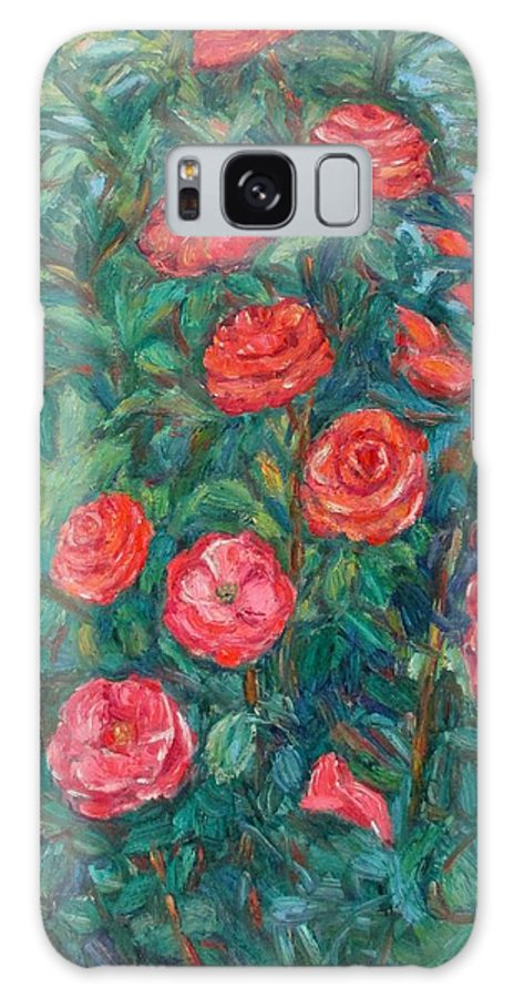 Rose Galaxy Case featuring the painting Spring Roses by Kendall Kessler