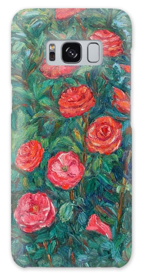 Rose Galaxy S8 Case featuring the painting Spring Roses by Kendall Kessler