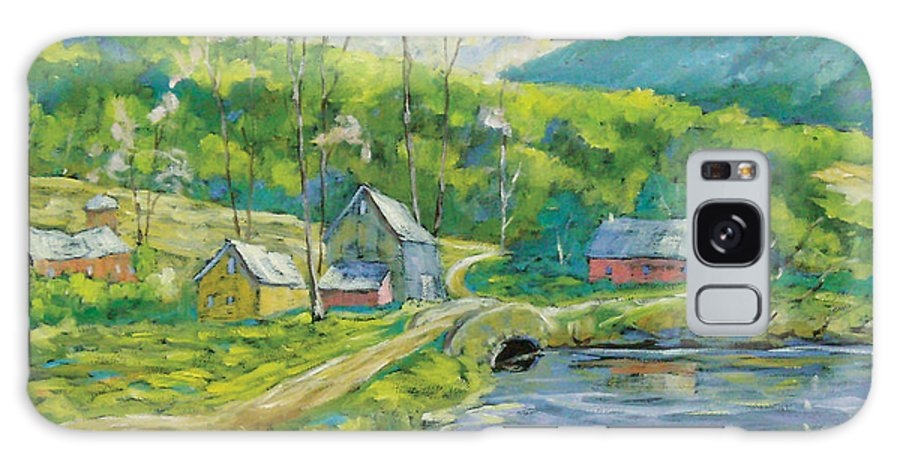 Landscape Galaxy S8 Case featuring the painting Spring Scene by Richard T Pranke