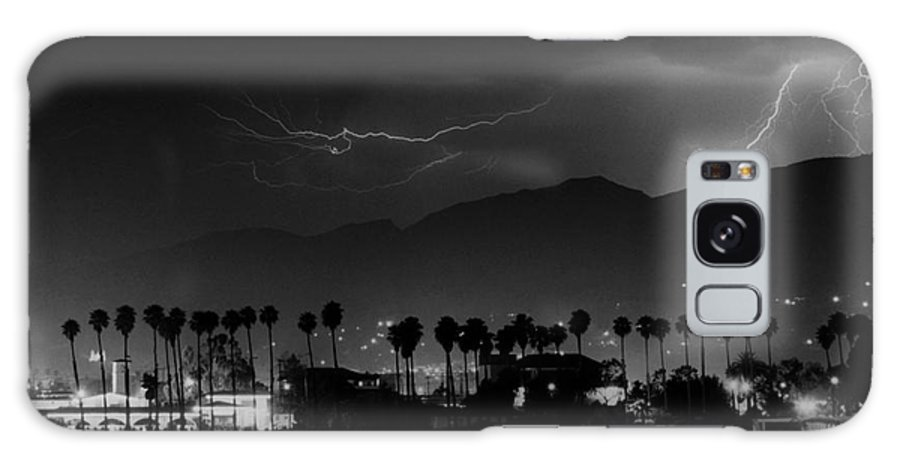 Lightning Galaxy S8 Case featuring the photograph Spring Storm Santa Barbara-signed by J L Woody Wooden