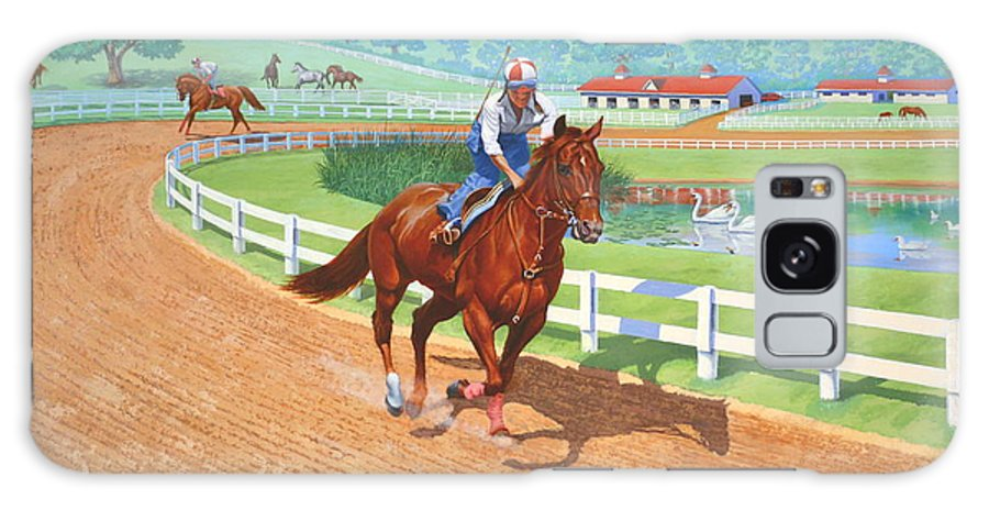 Western Artist Galaxy Case featuring the painting Spring Training by Howard Dubois