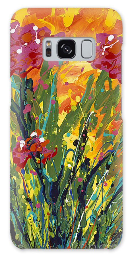 Spring Galaxy S8 Case featuring the painting Spring Tulips Triptych Panel 1 by Nadine Rippelmeyer