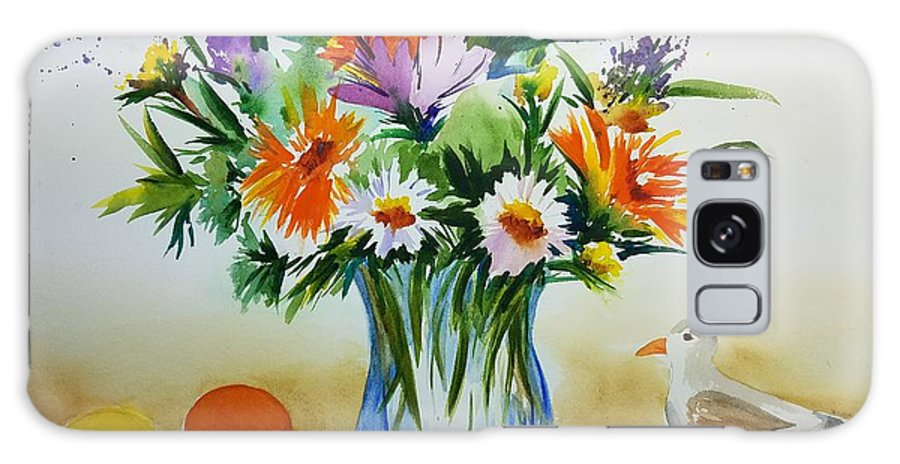 Watercolor Painting Galaxy S8 Case featuring the painting Springtime Melody by Don Whitesel