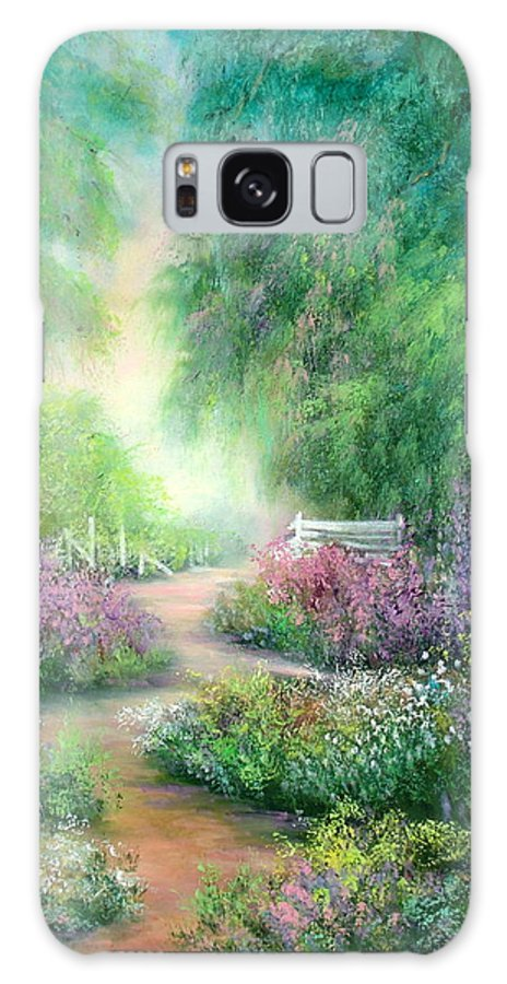 Forest Galaxy S8 Case featuring the painting Springtime Walk by Sally Seago