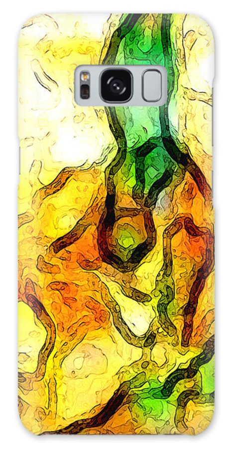Abstract Galaxy Case featuring the digital art Sprout About by Linda Mears