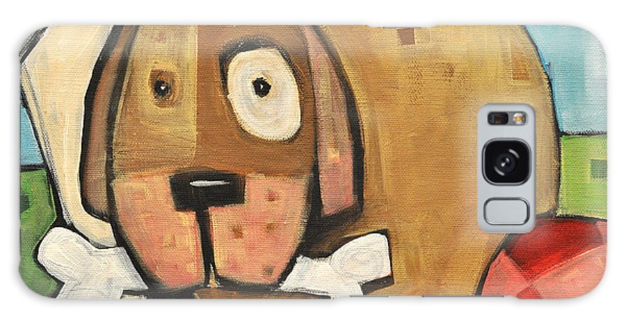Dog Galaxy S8 Case featuring the painting Square Dog by Tim Nyberg