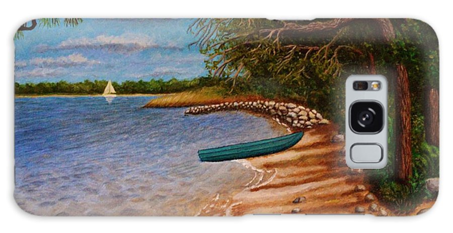 Rocks Galaxy S8 Case featuring the painting St Andrews State Park Panama City Florida by Andrew Pierce