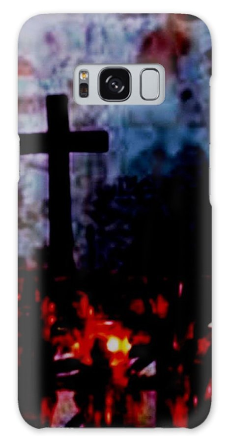 Cross Galaxy S8 Case featuring the pyrography St. Anne's - France by Lord Frederick Lyle Morris - Disabled Veteran