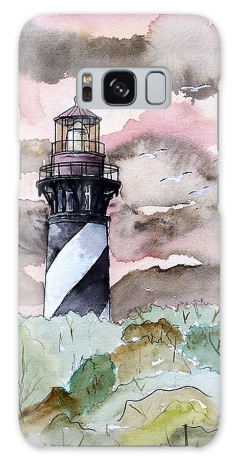 Lighthouse Galaxy S8 Case featuring the painting St Augustine Lighthouse by Derek Mccrea