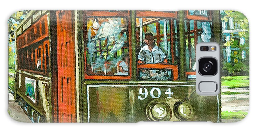 New Orleans Streetcar Galaxy Case featuring the painting St. Charles No. 904 by Dianne Parks